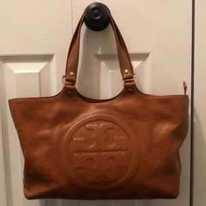 Tory Burch Bombe Burch leather tote